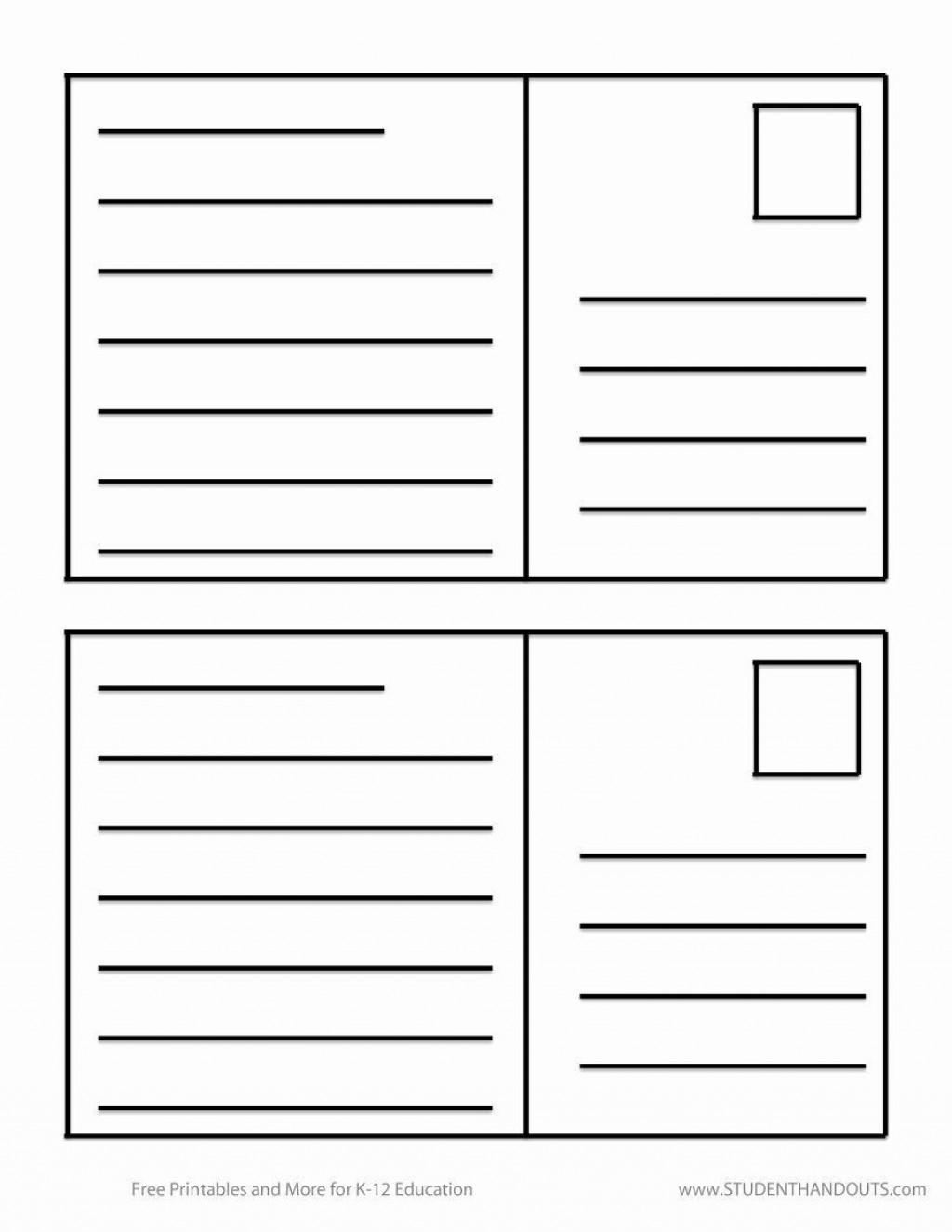 006 Wondrou Free Postcard Template For Word Idea  Printable Christma Place Card 4x6Large