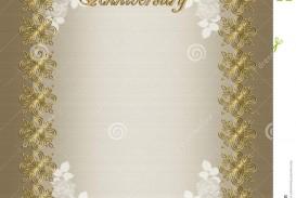 006 Wondrou Free Printable 50th Wedding Anniversary Invitation Template Design