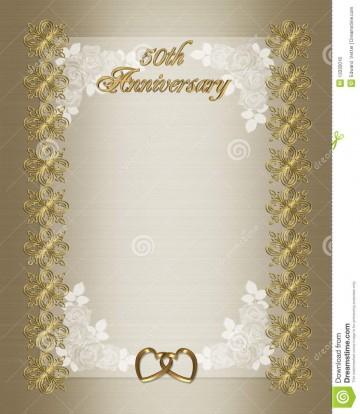 006 Wondrou Free Printable 50th Wedding Anniversary Invitation Template Design 360