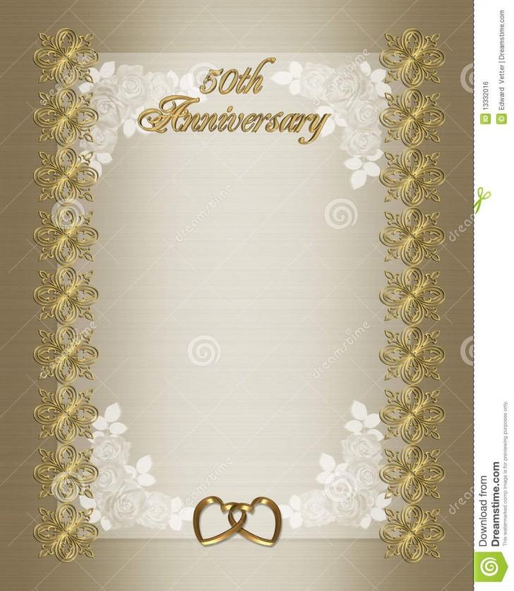 006 Wondrou Free Printable 50th Wedding Anniversary Invitation Template Design 728