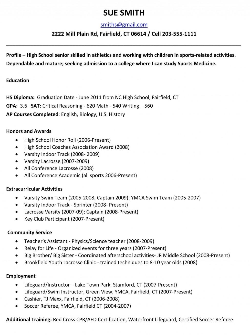 006 Wondrou Free Sample High School Resume Template Design Large