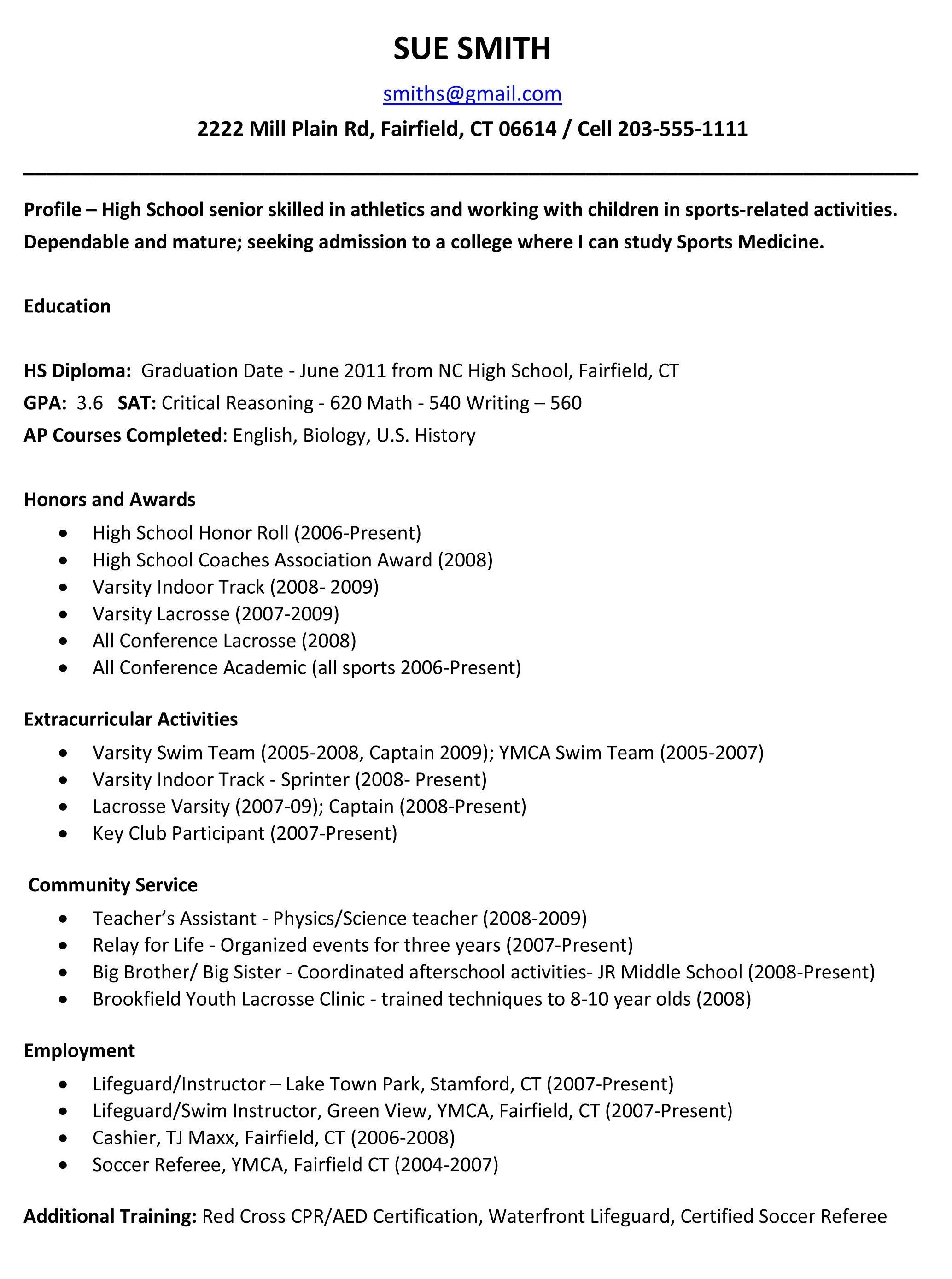006 Wondrou Free Sample High School Resume Template Design Full