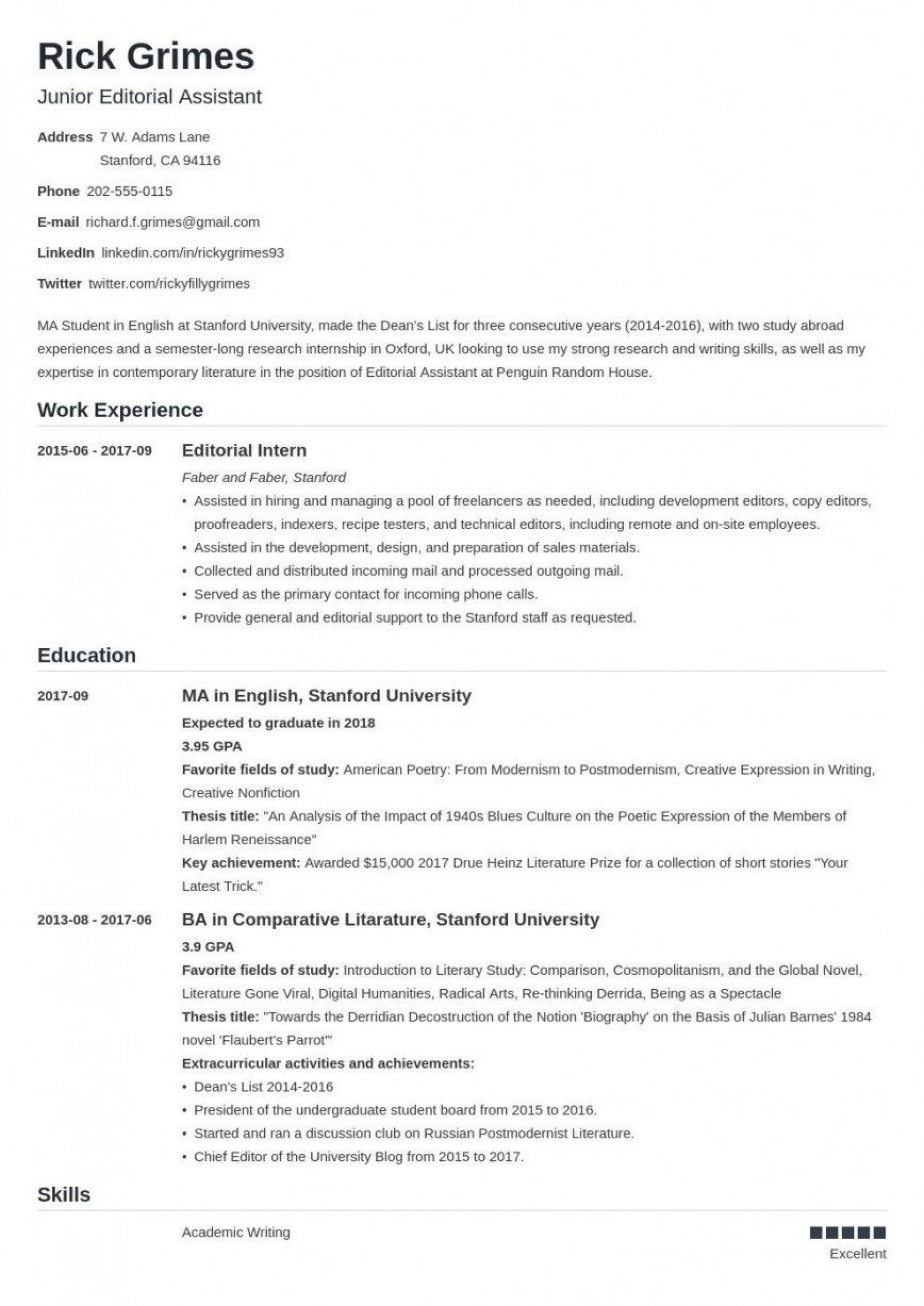 006 Wondrou Graduate School Curriculum Vitae Template Highest Quality  For Application Resume Format1920