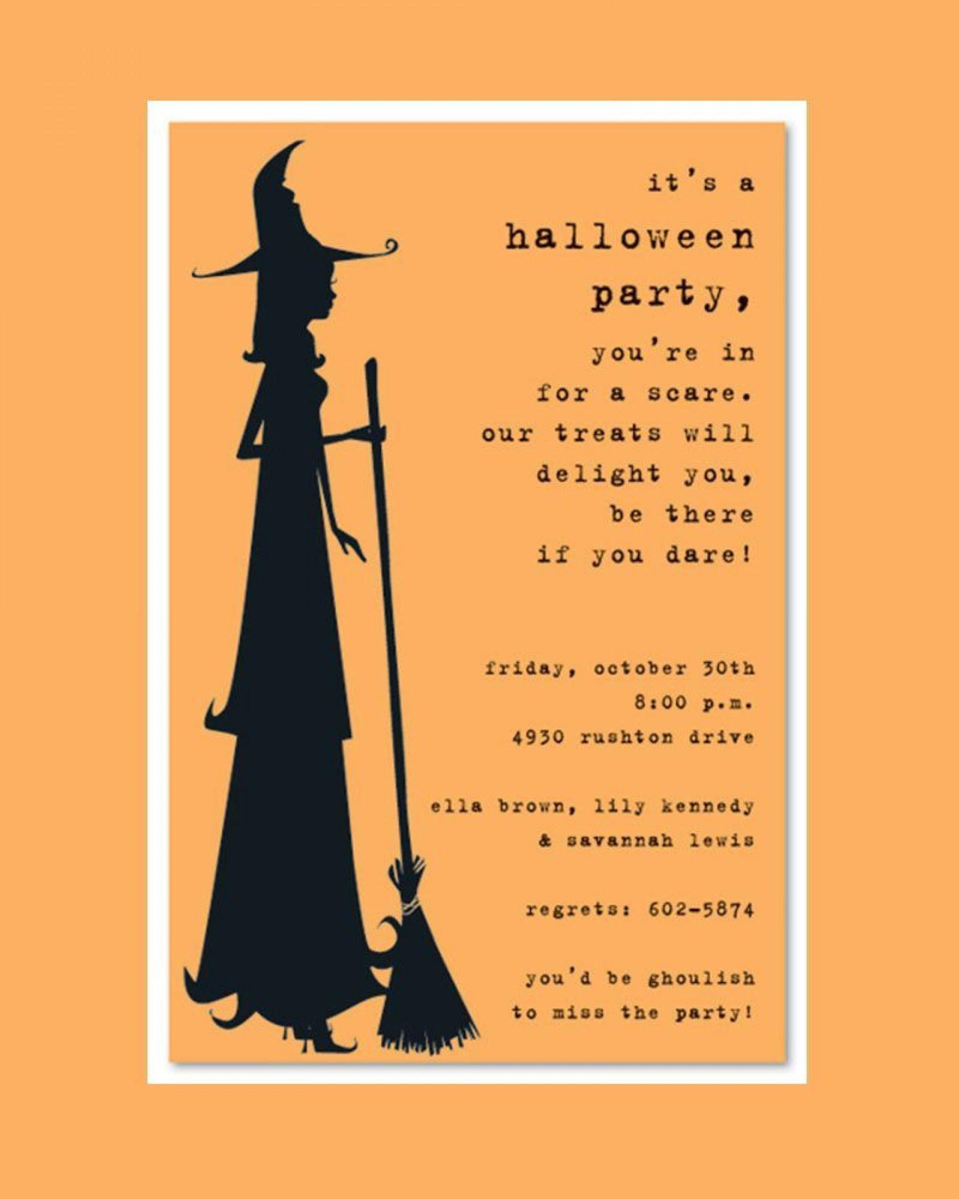 006 Wondrou Halloween Party Invite Template Photo  Templates - Free Printable Spooky Invitation Birthday1920