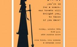 006 Wondrou Halloween Party Invite Template Photo  Templates - Free Printable Spooky Invitation Birthday