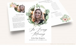 006 Wondrou Memorial Card Template Free Download Inspiration