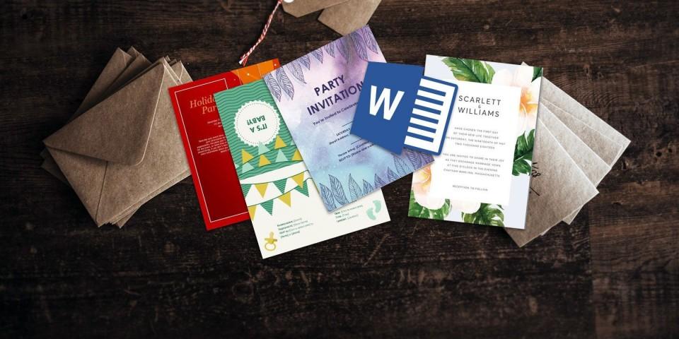 006 Wondrou Microsoft Word Invitation Template 4 Per Page High Resolution 960