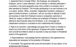 006 Wondrou Non Compete Agreement Template Word Highest Quality  Microsoft Non-compete Free