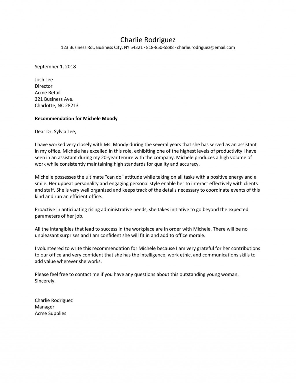 006 Wondrou Personal Letter Of Recommendation Template High Resolution  Templates Character Reference WordLarge
