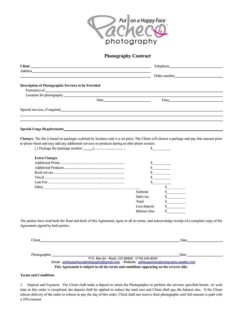 006 Wondrou Photography Contract Template Pdf Concept  Free PortraitFull