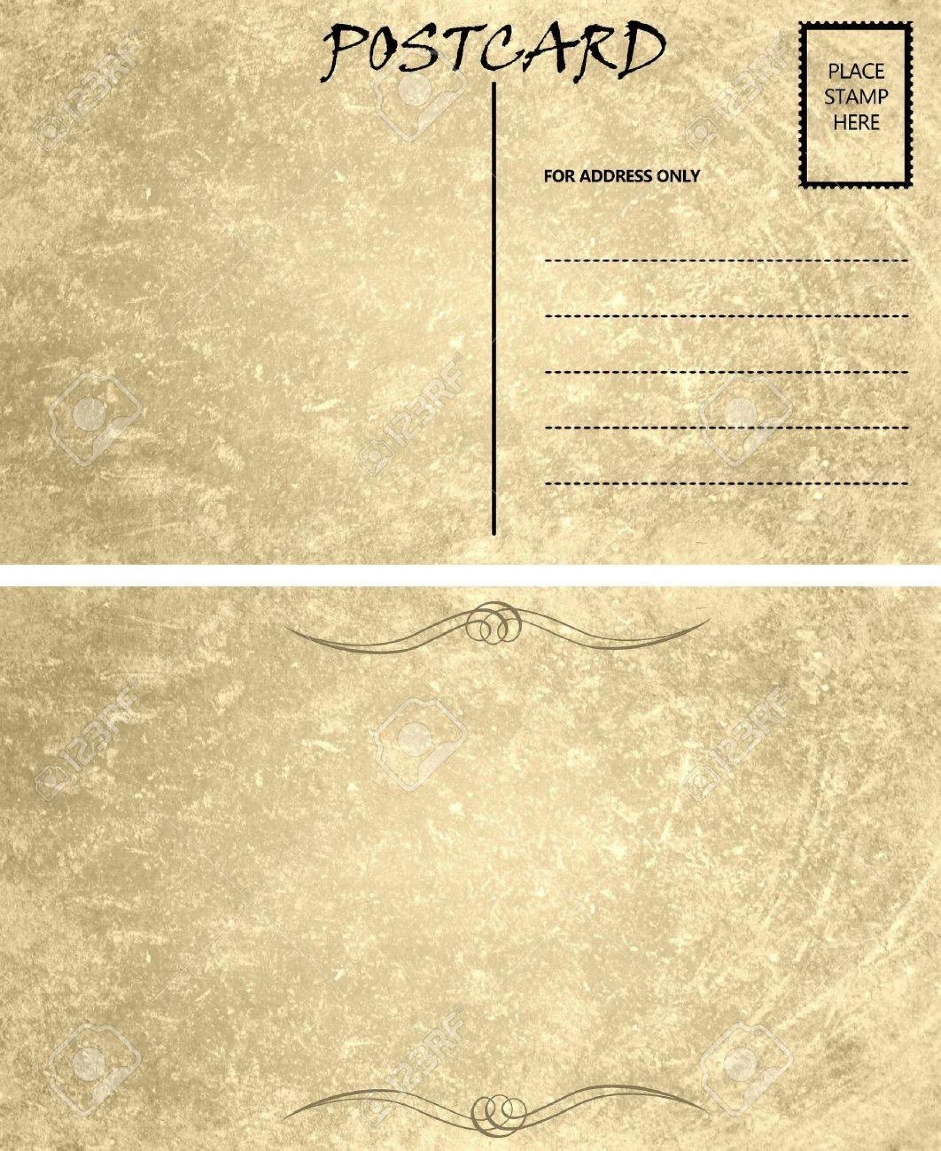 006 Wondrou Postcard Front And Back Template Free Image  To School1920