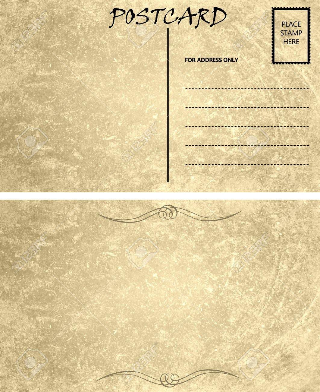 006 Wondrou Postcard Front And Back Template Free Image  To SchoolFull