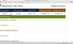 006 Wondrou Project Statu Report Template Excel Image  Free Progres Format Xl