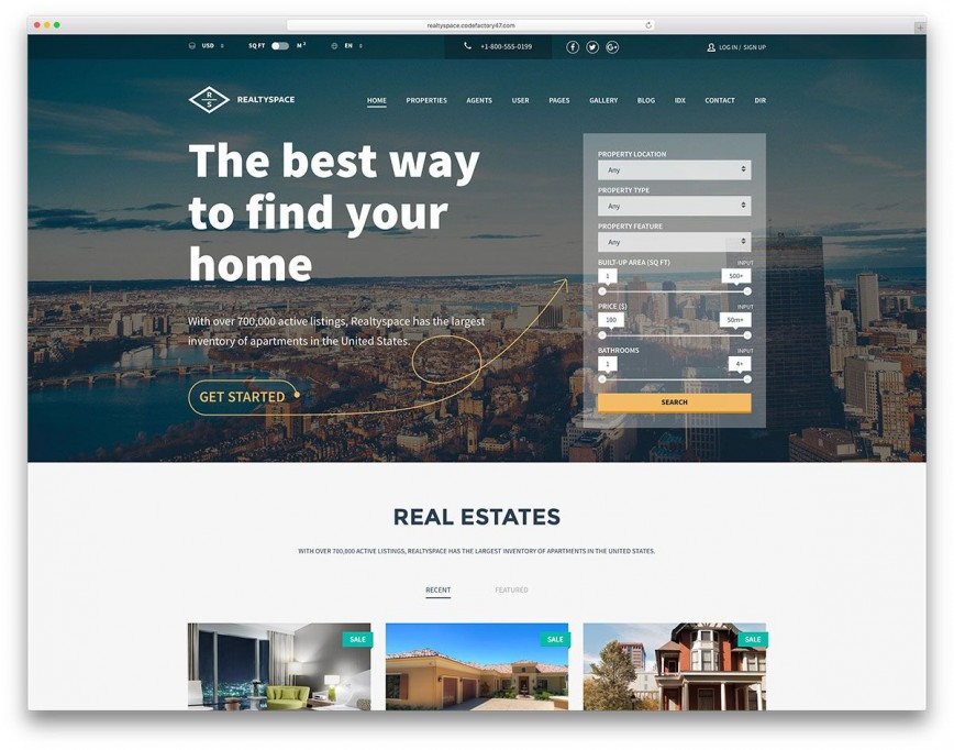 006 Wondrou Real Estate Agent Website Template Highest Clarity  Templates Company Free Download Agency