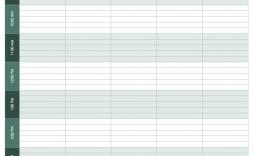 006 Wondrou Weekly Hourly Schedule Template Idea  Free Calendar Word Pdf