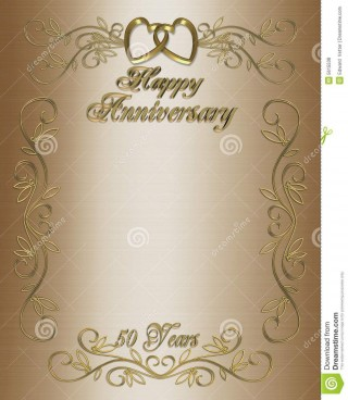 007 Amazing 50th Anniversary Party Invitation Template Picture  Wedding Free Download Microsoft Word320