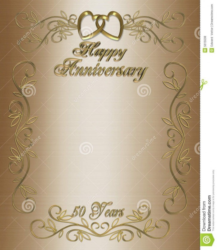 007 Amazing 50th Anniversary Party Invitation Template Picture  Wedding Free Download Microsoft Word728