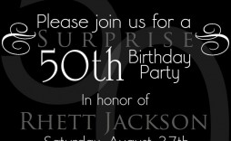 007 Amazing 50th Birthday Invitation Template Idea  For Him Microsoft Word Free