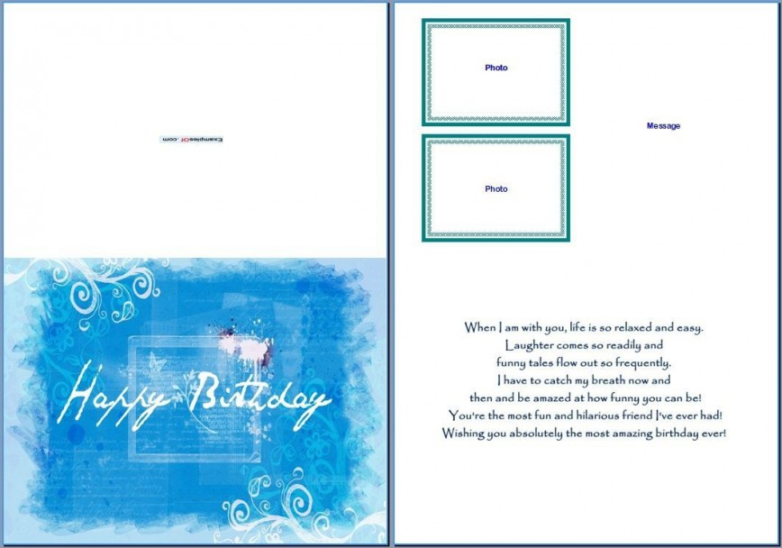 007 Amazing Blank Birthday Card Template For Word Example  Free