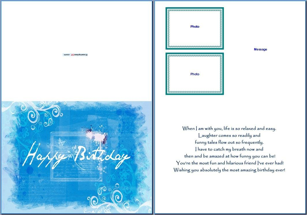 007 Amazing Blank Birthday Card Template For Word Example  FreeFull