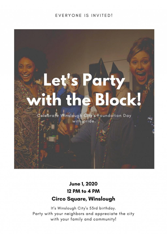 007 Amazing Block Party Flyer Template Idea  TemplatesLarge