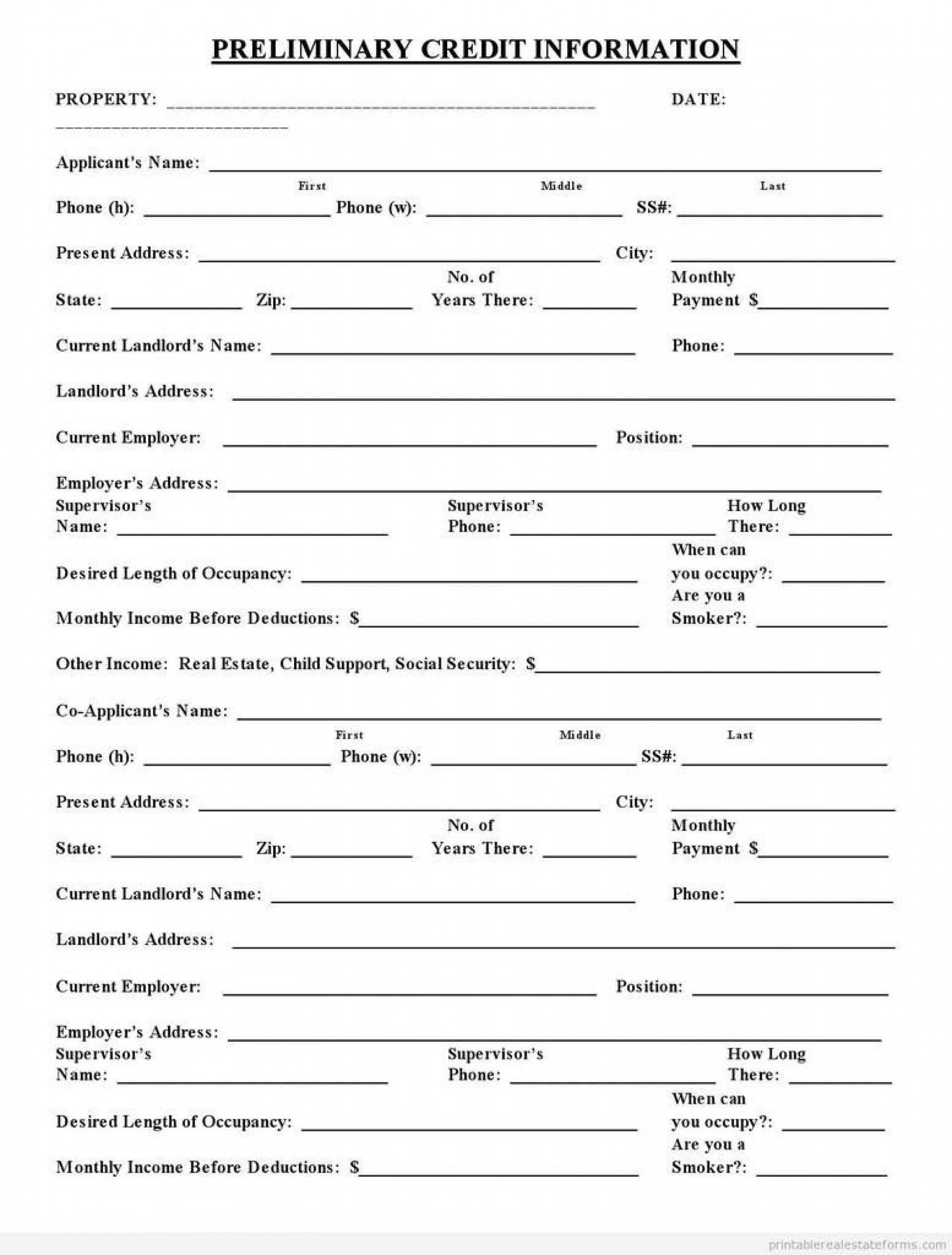 007 Amazing Busines Credit Application Template Pdf Concept  Form1920