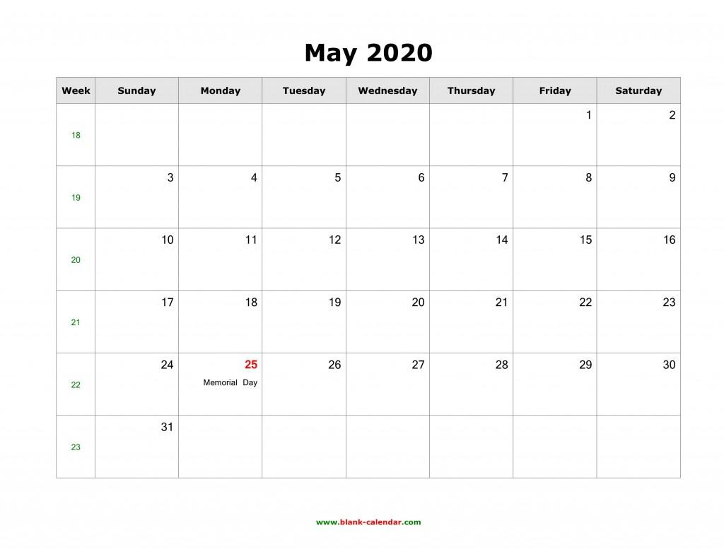 007 Amazing Calendar 2020 Template Word Idea  Monthly Doc Free DownloadLarge