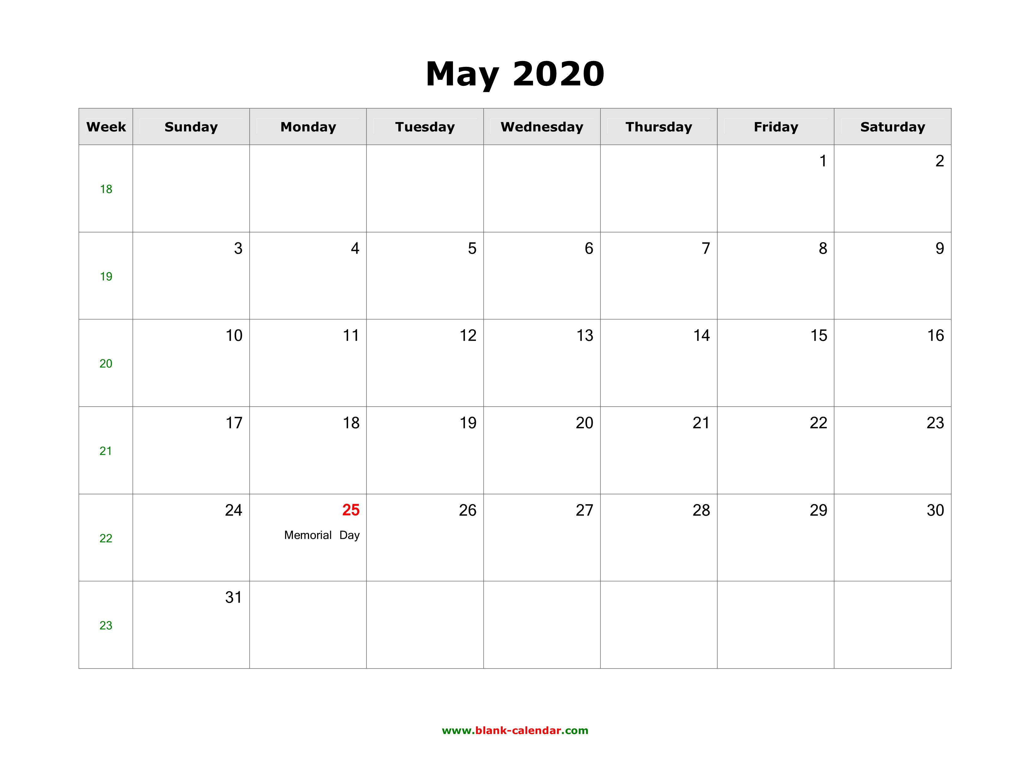 007 Amazing Calendar 2020 Template Word Idea  Monthly Doc Free DownloadFull