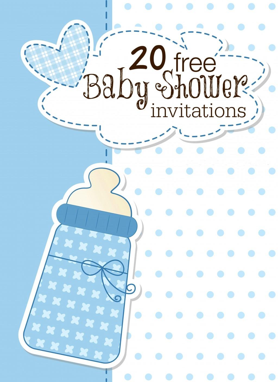007 Amazing Free Baby Shower Printable Boy Example  Oh Invitation ForLarge