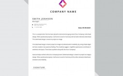 007 Amazing Free Letterhead Template Download High Resolution  Word Psd Sample