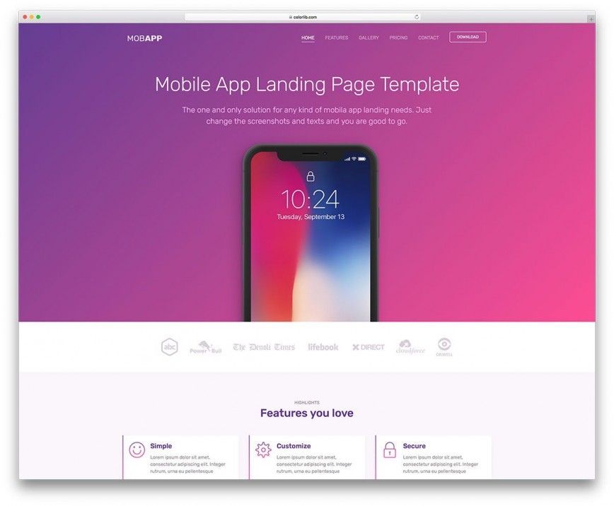 007 Amazing Free Mobile Website Template Design  Templates Responsive Phone Download