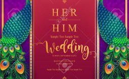 007 Amazing Indian Wedding Invitation Template Picture  Templates Online Editor Free After Effect Download For Word India