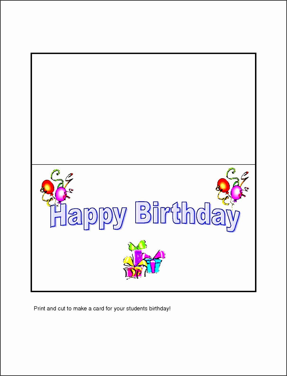 007 Amazing Microsoft Word Greeting Card Template Design  Birthday Blank Free 2007Full