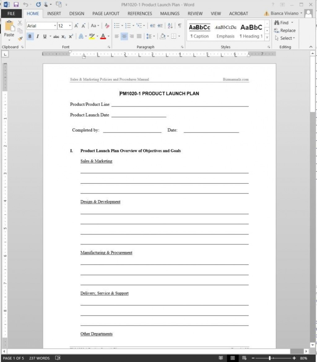 007 Amazing Product Launch Plan Template Idea  Google Sheet Ppt Free PowerpointLarge