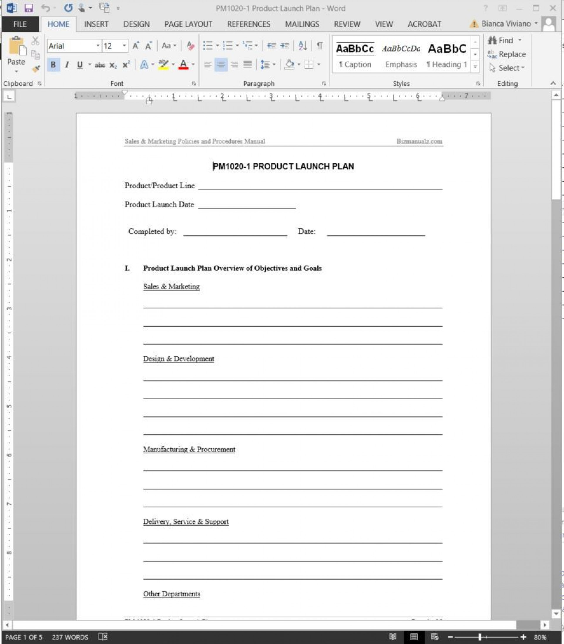 007 Amazing Product Launch Plan Template Idea  Google Sheet Ppt Free Powerpoint1920