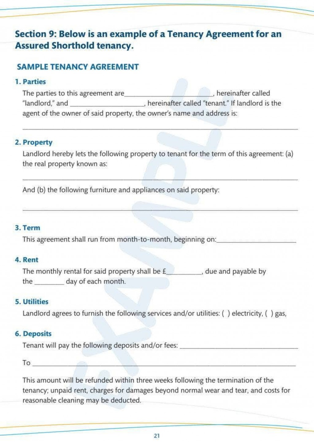 007 Amazing Tenancy Agreement Template Word Free High Definition  Uk 2020 Rental Doc LeaseLarge