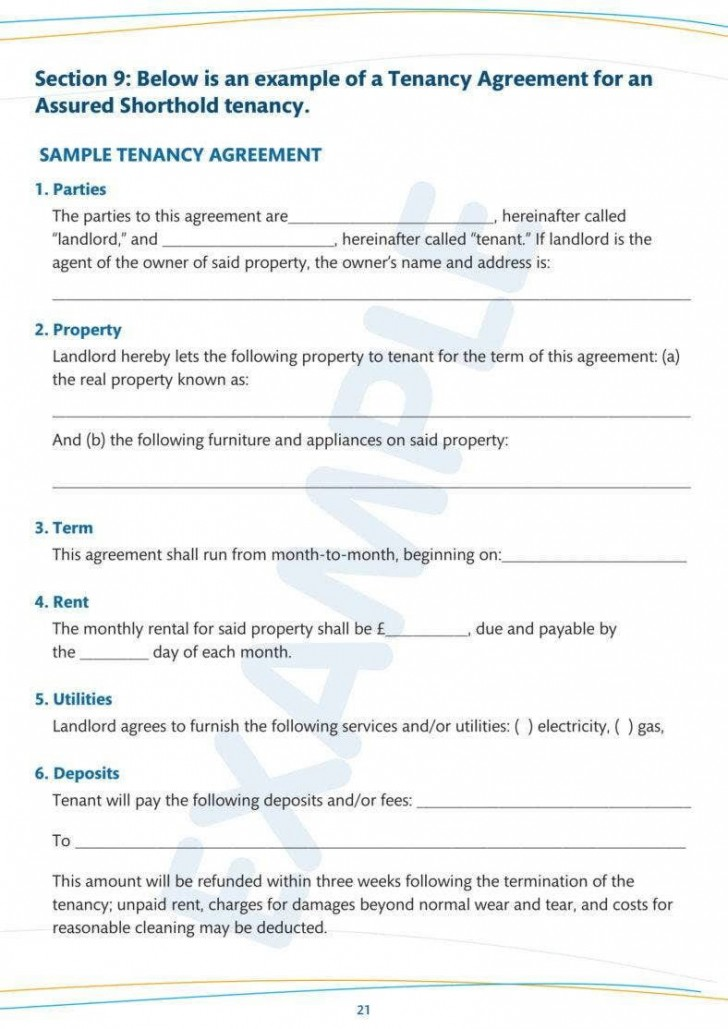 007 Amazing Tenancy Agreement Template Word Free High Definition  Uk 2020 Rental Doc Lease728