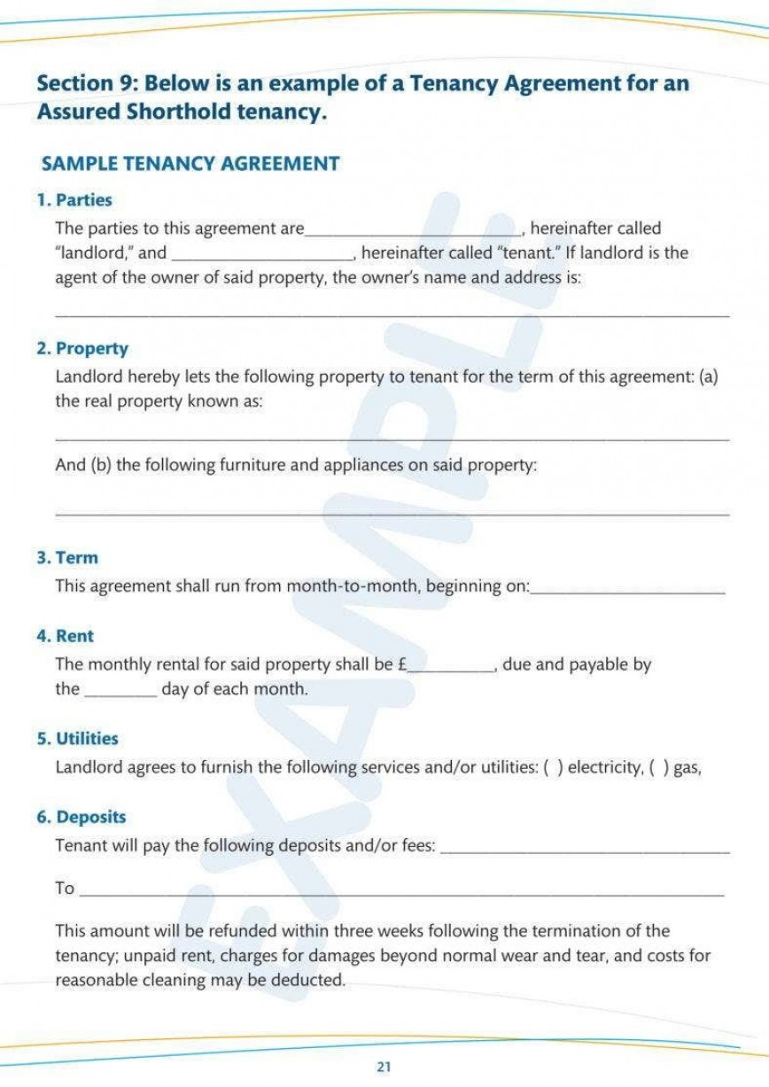 007 Amazing Tenancy Agreement Template Word Free High Definition  Lease 2020 Uk 2019