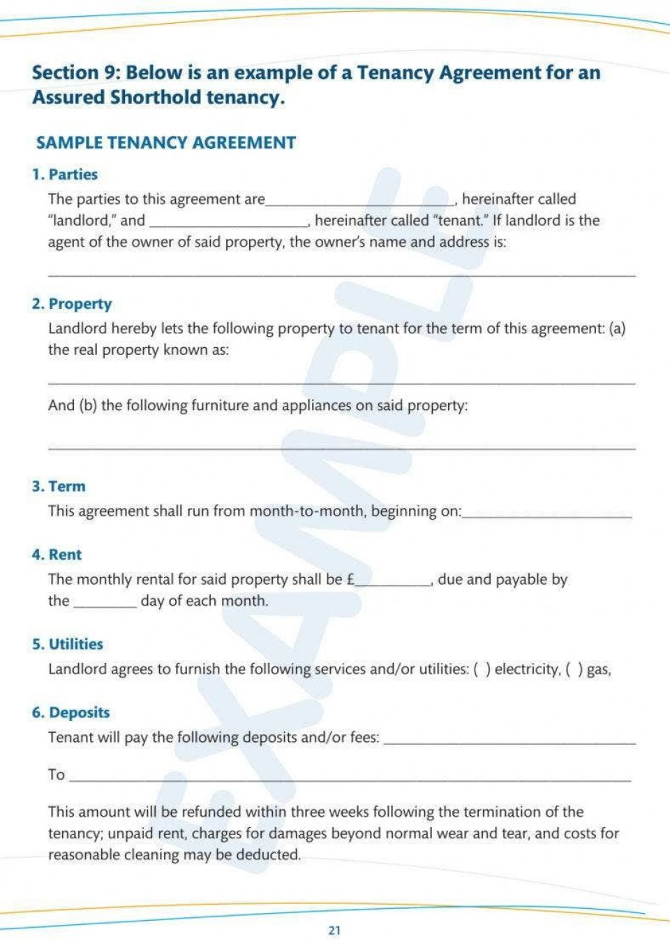 007 Amazing Tenancy Agreement Template Word Free High Definition  Uk 2020 Rental Doc Lease960