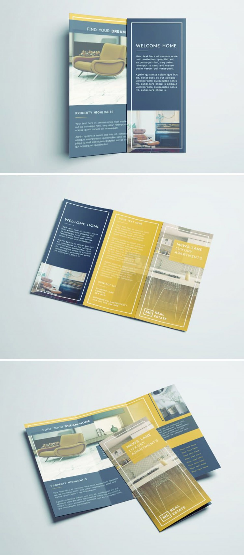 007 Amazing Tri Fold Brochure Indesign Template Example  Free Adobe960