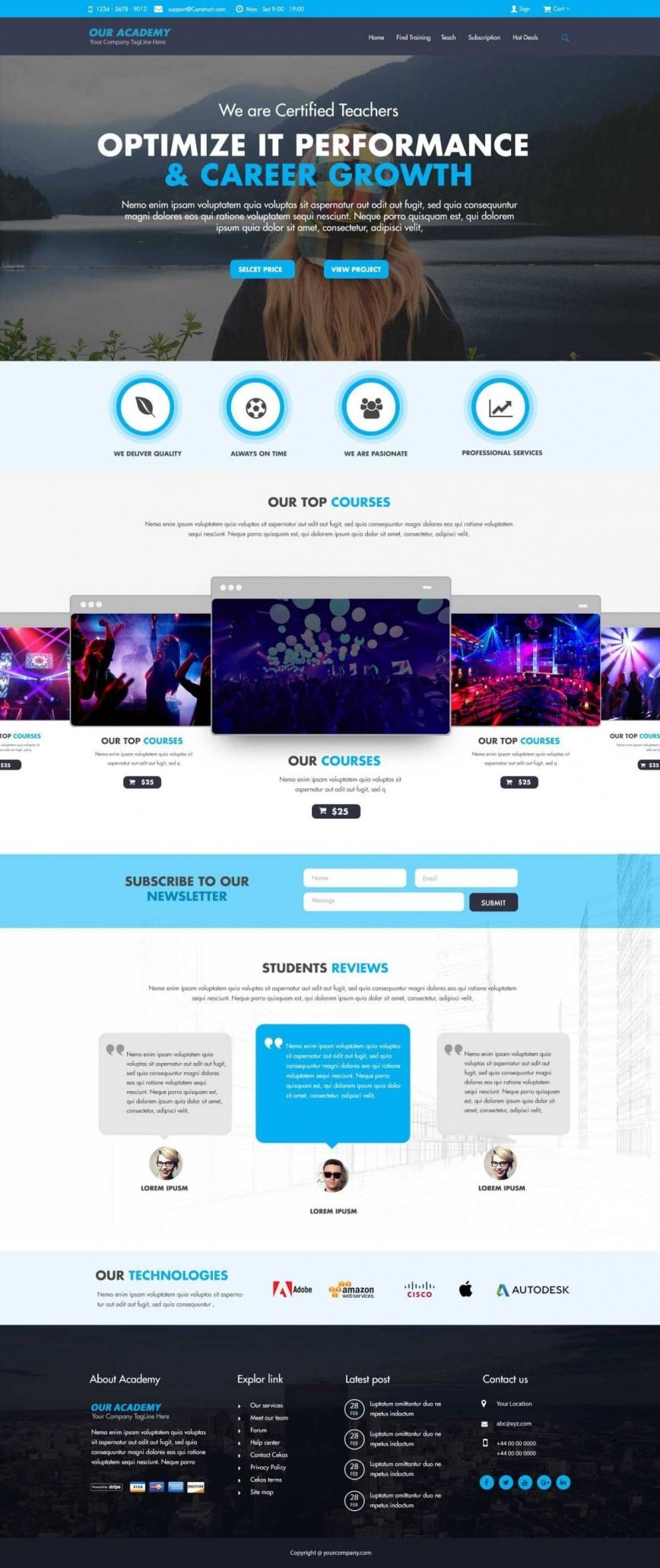 007 Amazing Website Template Free Download Picture  Bootstrap 4 School