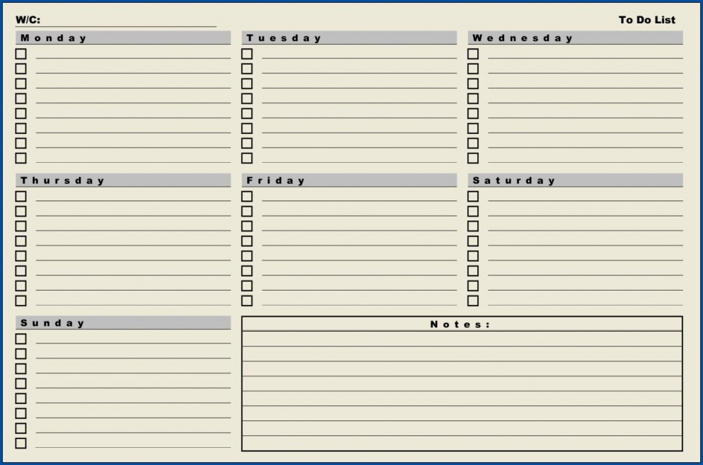 007 Amazing Weekly Todo List Template Sample  To Do Pinterest Task Excel Daily PdfLarge