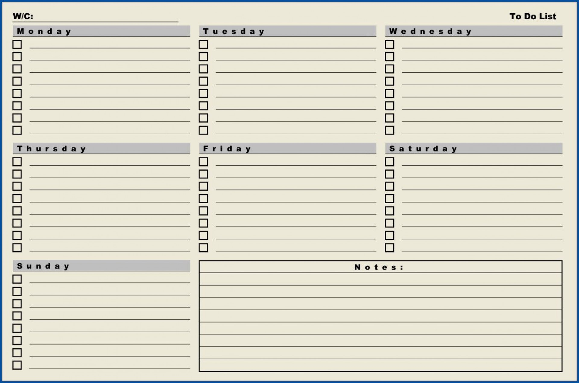 007 Amazing Weekly Todo List Template Sample  To Do Pinterest Task Excel Daily Pdf1920