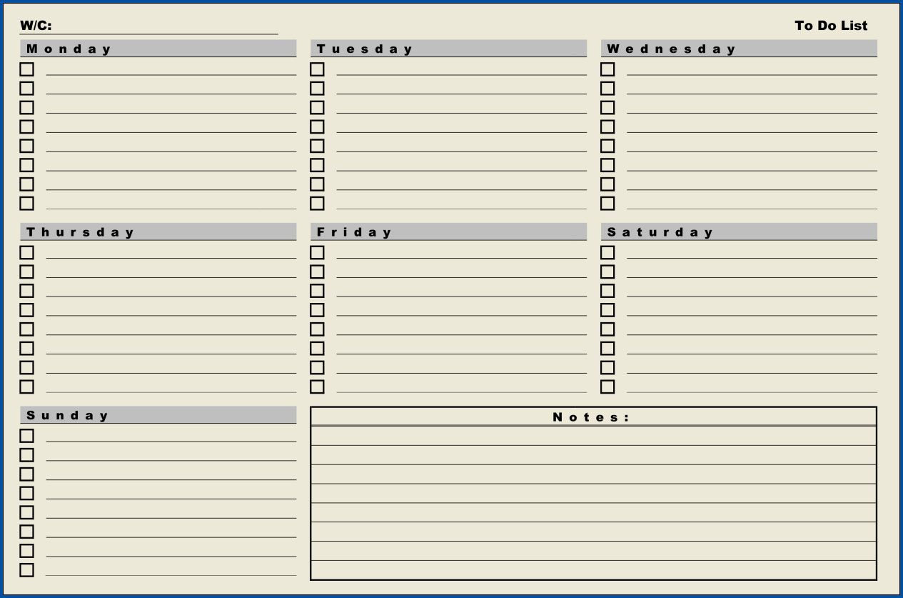 007 Amazing Weekly Todo List Template Sample  To Do Pinterest Task Excel Daily PdfFull