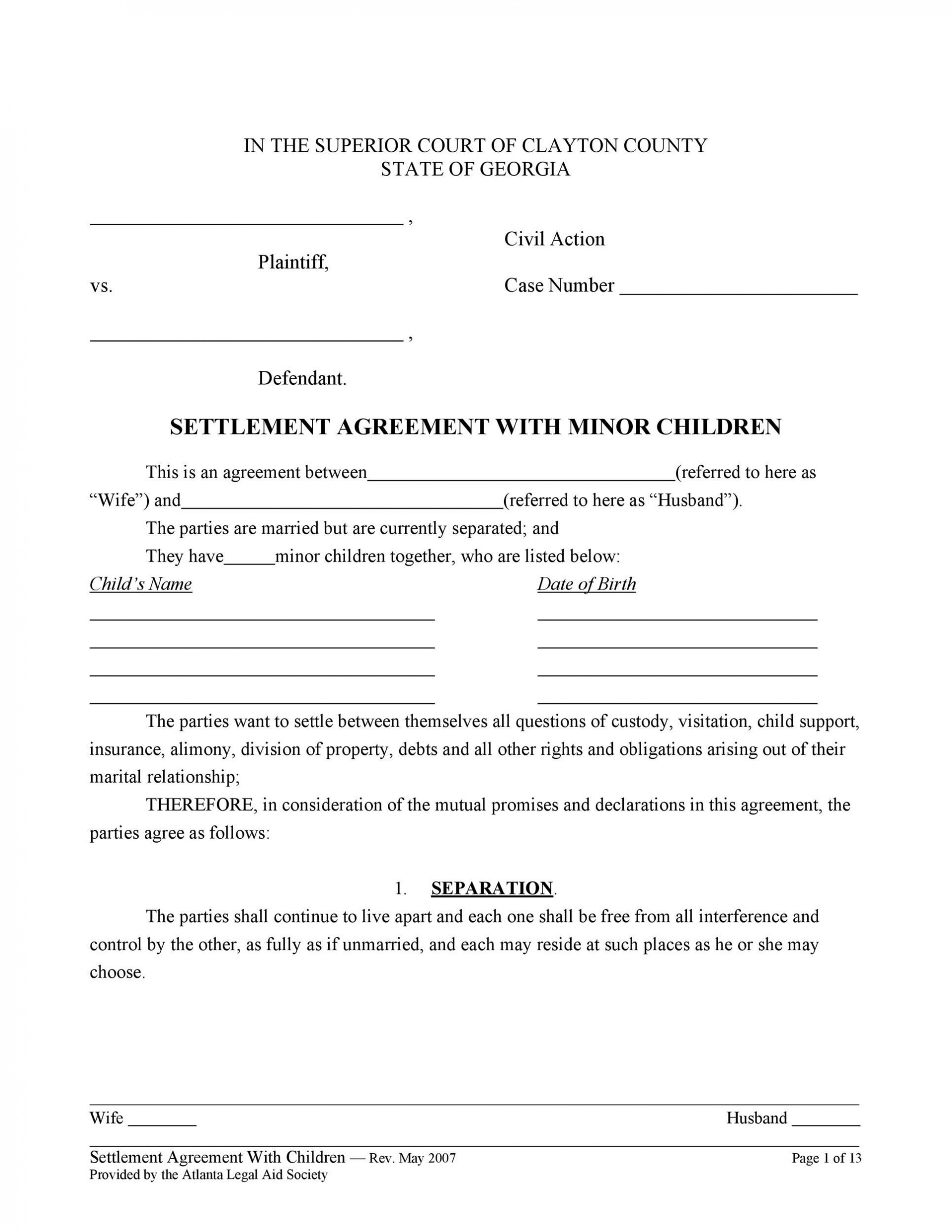 007 Archaicawful Child Support Agreement Template High Definition  Australia Bc Alberta1920