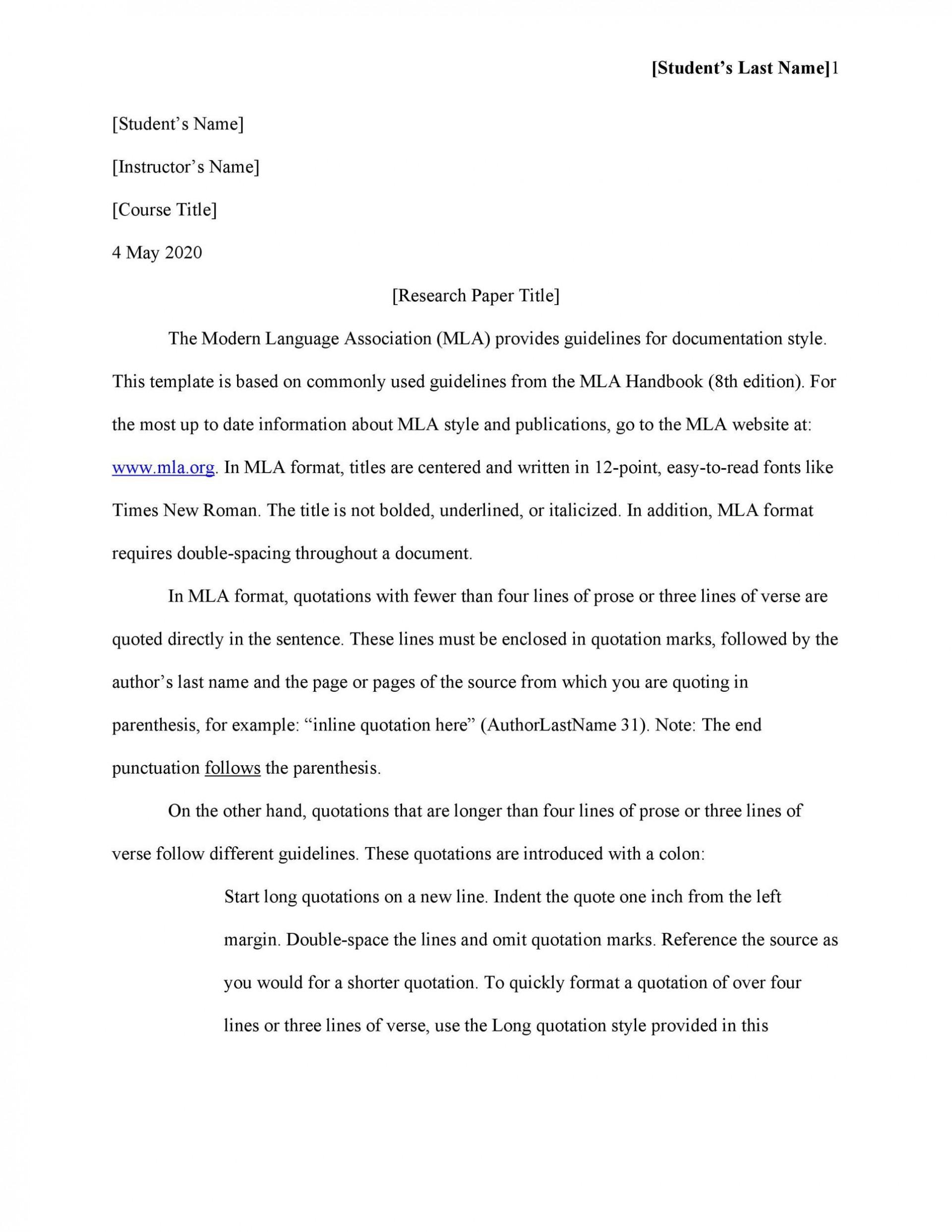 Proper College Essay Format