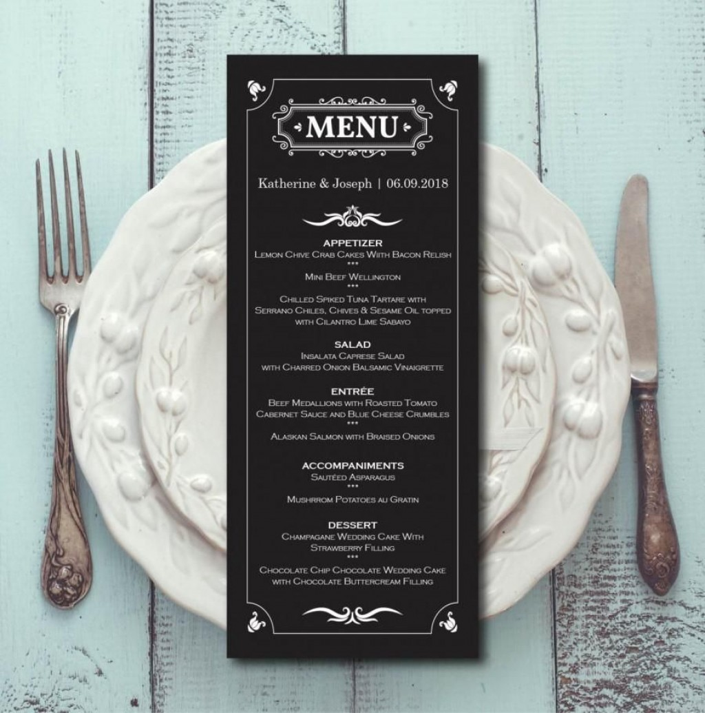 007 Archaicawful Elegant Wedding Menu Card Template Highest Clarity  TemplatesLarge