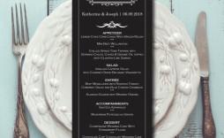 007 Archaicawful Elegant Wedding Menu Card Template Highest Clarity  Templates
