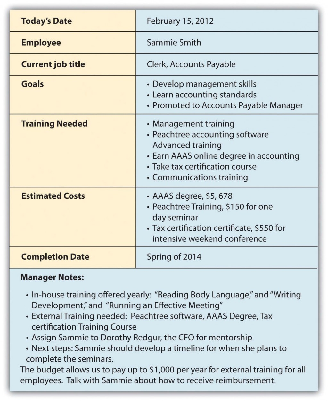 007 Archaicawful Employee Development Plan Example  Workforce Personal CareerLarge