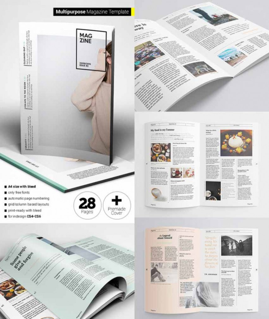 007 Archaicawful Free Magazine Layout Template High Resolution  Templates Pdf For Word Download